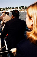 Businesspeople Rowing