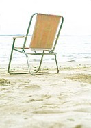 Folding chair on beach