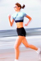 Woman running outside