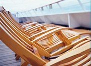 Line of Deck Chairs on a Cruise Ship