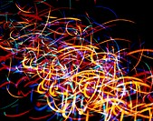 Multicolored Scribble Light Effect