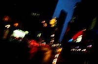 City lights, blurred