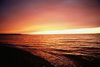 Ocean at sunset, Nova Scotia, Canada