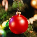 Bauble on Christmas tree, (Close-up)