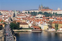 Bridge, Bridges, Charles Bridge, Cities, City, Cityscape, Cityscapes, Color, Colour, Czech Republic, Daytime, Europe,