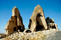 Abandoned rock dwellings in Goreme town. Turkey (september 2005)