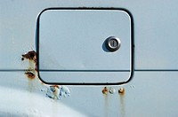 Door of a car petrol tank