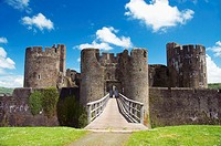 Caerphilly castle, Wales, GB