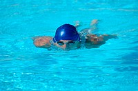 Male Swimmer Swimming Underwater