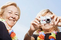 Women using digital camera