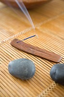 Incense by stones
