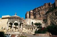 Meherangarh fortress (1459). Jodhpur. Rajasthan. India.