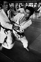 Judo training in Tokyo, Japan, 1981.