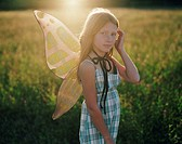 Girl wearing butterfly wings (thumbnail)