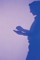 Man, silhouette.