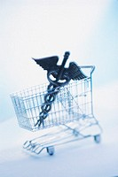 Caduceus in shopping cart