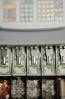 Cash register, aerial angle