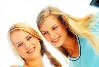 Two young women smiling (thumbnail)