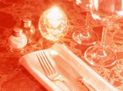 Close Up of a Place Setting on Table
