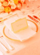 Close Up of Place Setting and Flowers
