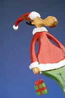 Low angle view of a reindeer figurine
