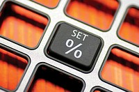 Close-up of a push button of a calculator