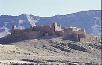Old ruins of an ancient castle, Tizi_n Ticha, High Atlas Mountains, Morocco