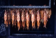 Close_up of smoked fish, Bavaria, Germany Europe