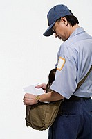Postman holding a letter (thumbnail)