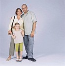 Portrait of family standing together posing, portrait