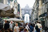 Rua Augusta in the city centre, Lisbon. Portugal