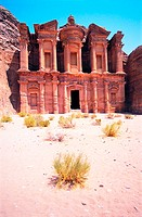 Facade of Ed Deir (The Monastery) in Petra, Jordan