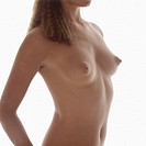 Young woman breast