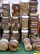 Preserved food for sale. Fira Av&#237;cola Ra&#231;a Prat, El Prat de Llobregat, Barcelona province, Catalonia, Spain