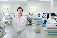 Portrait of female technician in lab