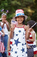 Girl at Fourth of July parade