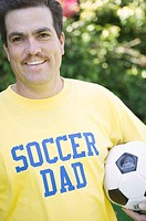 Portrait of a soccer dad