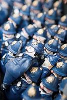 Figures of English policemen, full frame