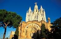 Church of the Sagrat Cor, Tibidabo, Barcelona. Catalonia, Spain