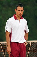 Male Tennis Player Standing