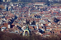 City View from the Citadelle. Besançon. Doubs. Jura. France.