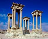 Tetrapylon Palmyra Syria