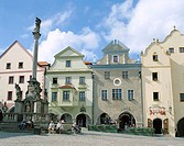 Old Town Square, Cesky Krumlov, South Bohemia, Czech Republic