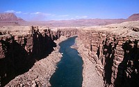 Colorado River from Navajo Bridge. Arizona Strip. USA