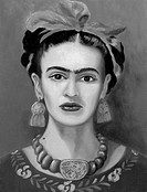 Frida Kahlo (1907-1954)  Mexican Artist 2003 Isy Ochoa (b.1961 French)