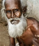 Old man with white beard. India