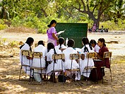 Improvised school after the tsunami. Sri Lanka.