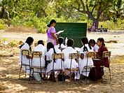 Improvised school after the tsunami. Sri Lanka.