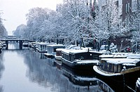 Prinsengracht in winter, Amsterdam. Holland