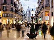 Larios street, Malaga, Andalusia, Spain